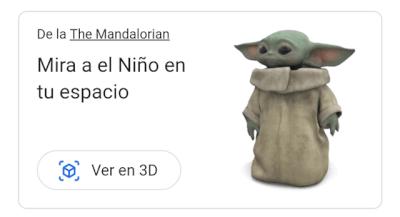 Imagen - Cómo tener un Baby Yoda 3D gracias a Google