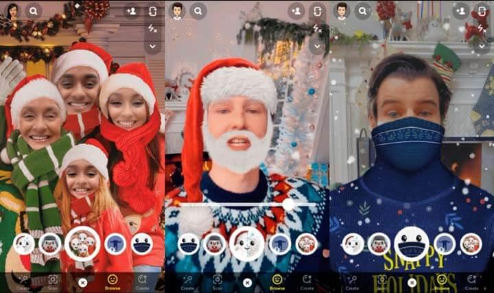 Imagen - Nuevos filtros de Navidad en Snapchat para móvil y ordenador