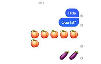 Imagen - Facebook limita los emojis de la berenjena y melocotón