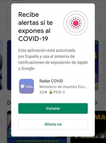 Imagen - Google Play Store te recomienda instalar Radar Covid