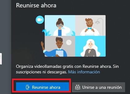 """Imagen - Icono """"Reunirse ahora"""": qué es y cómo funciona"""