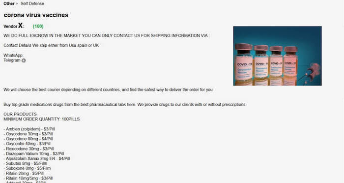 Imagen - Venden tests falsos y vacunas del COVID-19 en la Deep Web