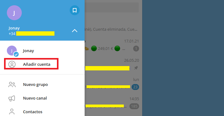 Imagen - Cómo tener dos cuentas Telegram a la vez en un mismo móvil