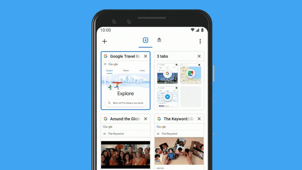Cómo activar/desactivar las pestañas en cuadrícula de Chrome para Android