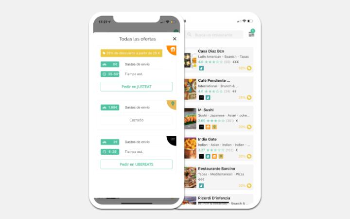 Imagen - Fidmi une Uber Eats, Glovo, Just Eat y Deliveroo en una app