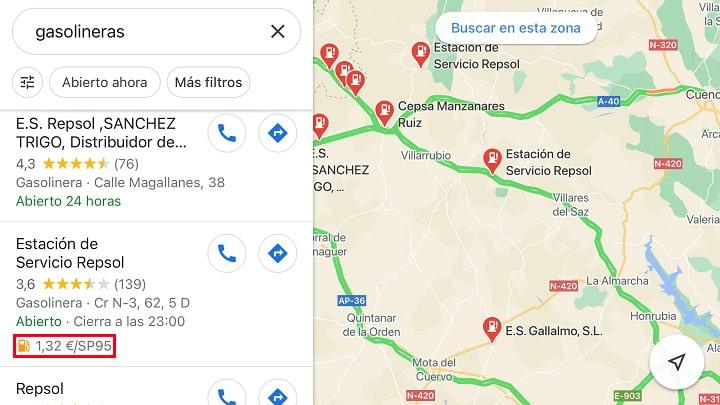 Imagen - Cómo encontrar la gasolinera más barata con Google Maps