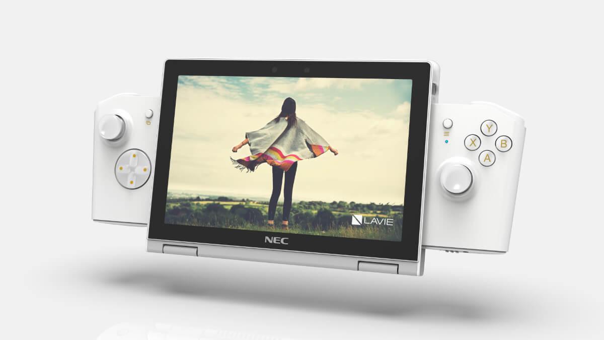 NEC Lavie Mini: un portátil Windows en 8 pulgadas con mandos al estilo Switch