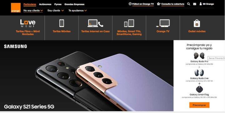 Imagen - Galaxy S21, S21+ y S21 Ultra: precios y tarifas con Orange
