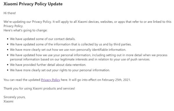 Imagen - Xiaomi actualiza su política de privacidad, ¿cómo te afecta?