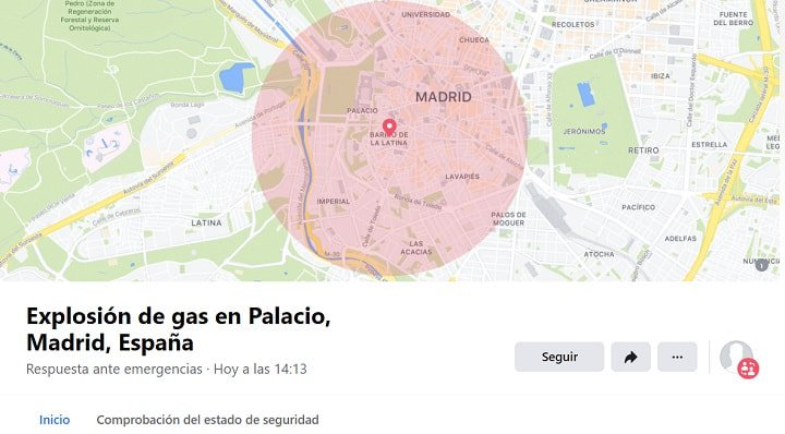 Imagen - Facebook activa el Safety Check por la explosión de Madrid
