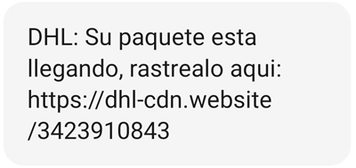 """Imagen - Cuidado con el falso SMS de DHL: """"su paquete está llegando"""""""