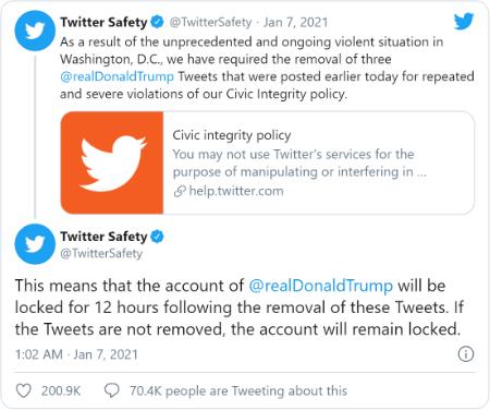 Imagen - Donald Trump es bloqueado en Twitter y Facebook