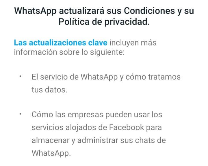 Imagen - WhatsApp actualiza condiciones y privacidad, ¿qué significa?