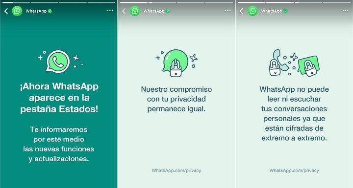 Imagen - WhatsApp ahora aparece en la pestaña Estados