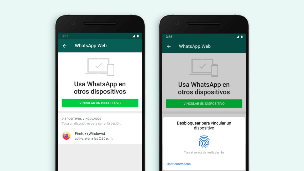 WhatsApp Web exigirá huella dactilar o escaneo facial para vincularse