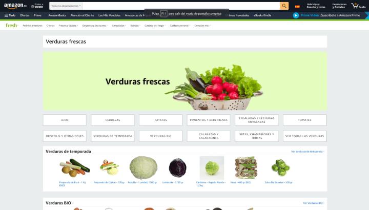 Imagen - Amazon Fresh llega a España: así funciona