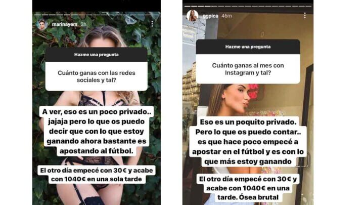 Imagen - Influencers que promocionan peligrosas apuestas en Instagram