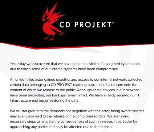 Imagen - Hackean CD Projekt Red, el estudio que creó Cyberpunk 2077
