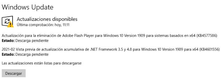 Imagen - La actualización KB4577586 para Windows 10 eliminará Flash