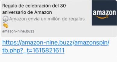 """Imagen - """"30 aniversario de Amazon"""": cuidado con este WhatsApp"""