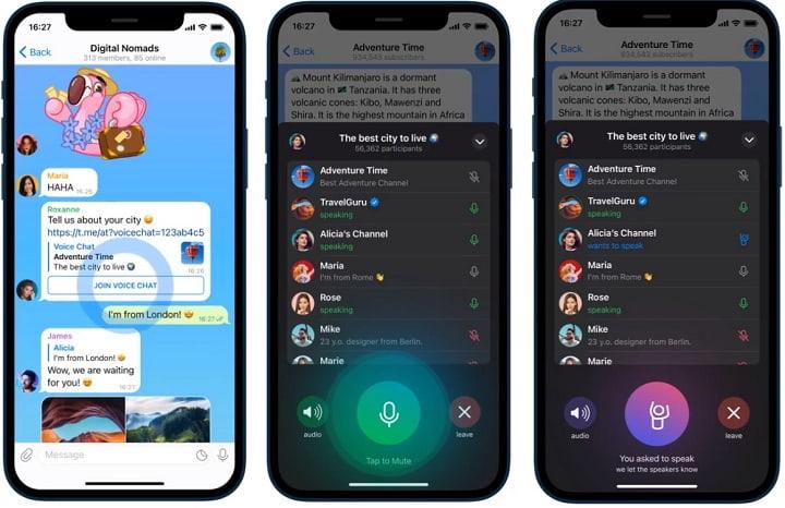 Imagen - Telegram ya tiene chats de voz en canales: detalles