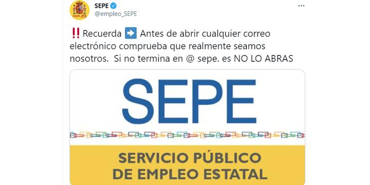 Imagen - Un correo suplanta al SEPE y a la Seguridad Social