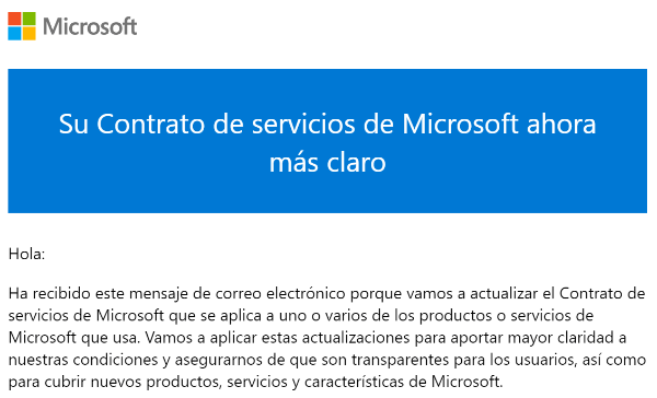 Imagen - Contrato de servicios de Microsoft: cambios en 2021