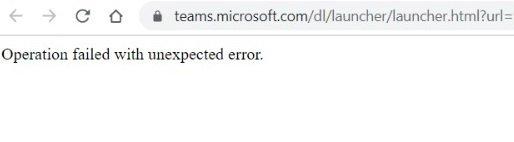 "Imagen - Microsoft Teams caído: ""Operation failed"""