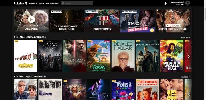 Imagen - Rakuten TV lanza nuevos canales gratuitos en España