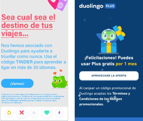 Imagen - Duolingo Plus gratis para 100.000 usuarios de Tinder