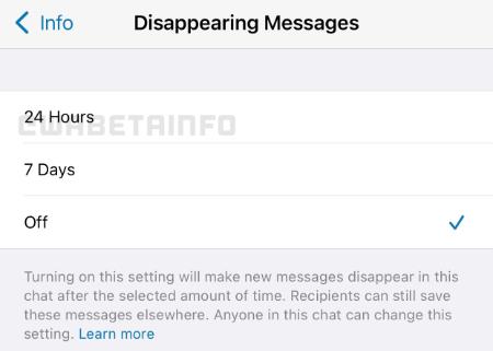 Imagen - WhatsApp añadirá mensajes temporales de 24 horas
