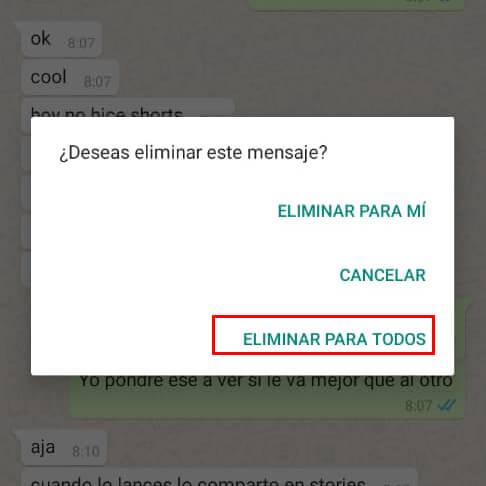 Imagen - Cómo eliminar mensajes de WhatsApp después de horas