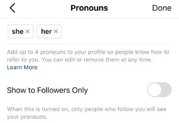 Imagen - Cómo añadir pronombres al perfil de Instagram