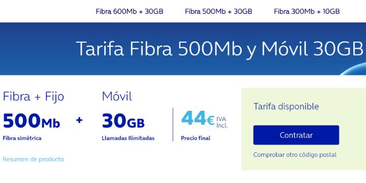 Imagen - O2: fibra 500 Mbps + 30 GB en el móvil por 44 €