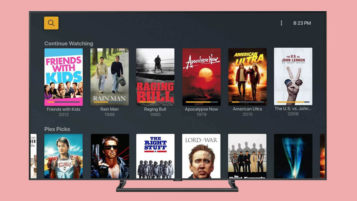 Plex TV, canales, películas y series gratis con publicidad