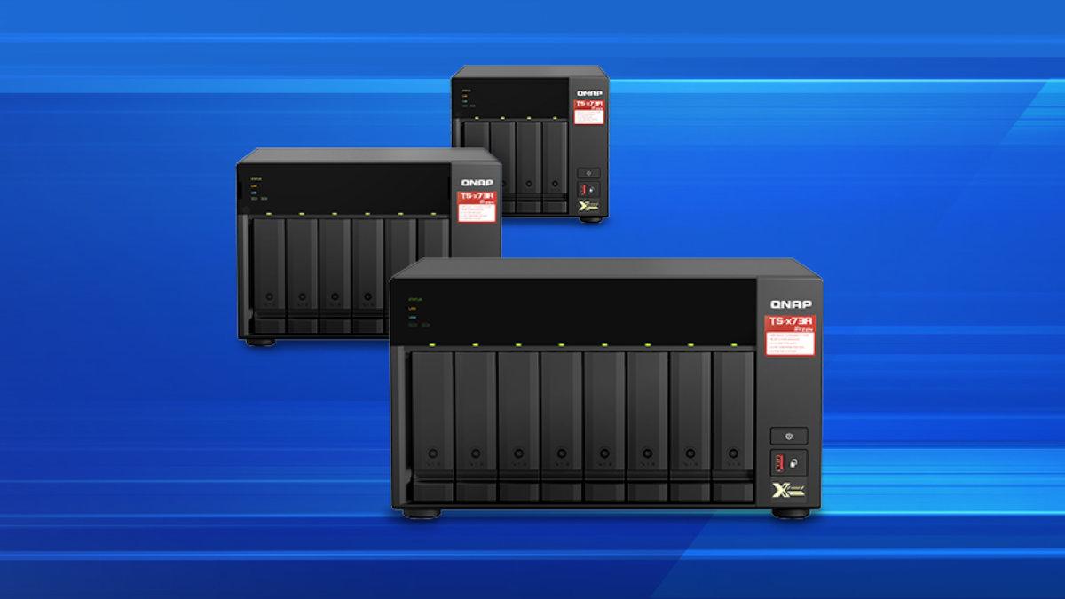 QNAP TS-x73A: un NAS avanzado con AMD Ryzen, doble 2,5 GbE y expansión PCIe