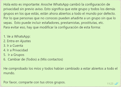 Imagen - Grupos de WhatsApp abiertos, ¿ha cambiado la privacidad?