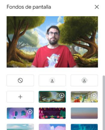 Imagen - Google Meet ya permite poner fondos como Zoom