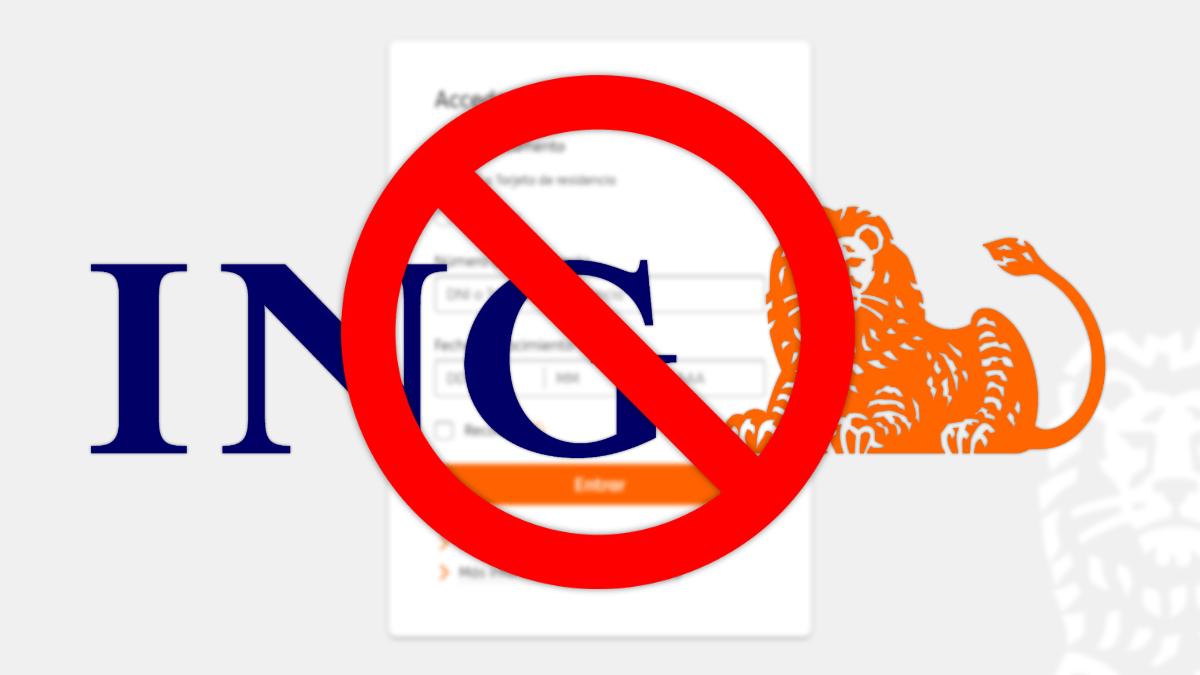 ING no funciona: la web y la app caídas