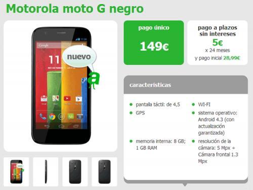 Imagen - Moto G ya disponible a plazos o por 149 euros con Amena