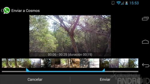 Imagen - WhatsApp ya permite enviar vídeos de cualquier tamaño