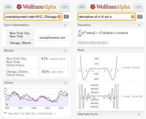 Imagen - Wolfram Alpha, una app para buscar contenido de todo tipo