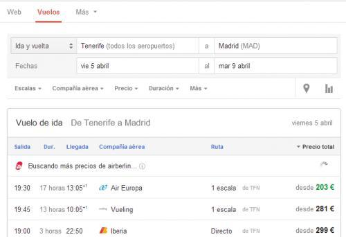 Imagen - Google trae Flight Search a España y a otros países europeos
