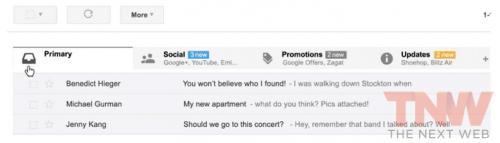 Imagen - Gmail se rediseñará con pestañas para organizar el correo