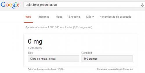 Imagen - Google Search ya muestra resultados nutricionales en español