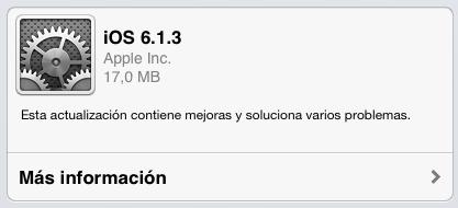 Imagen - iOS 6.1.3 ya está disponible para la descarga