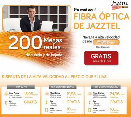 Imagen - Jazztel ofrece fibra óptica desde 15.95 euros mensuales