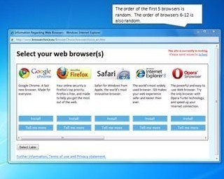 Imagen - Microsoft presenta la pantalla de selección de navegador