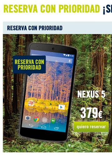 Imagen - El Nexus 5 se podrá comprar en Phone House