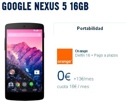 Imagen - Nexus 5 desde 3 euros al mes más tarifa con Orange
